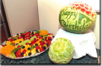 Fruit carving and Fruit Centerpieces